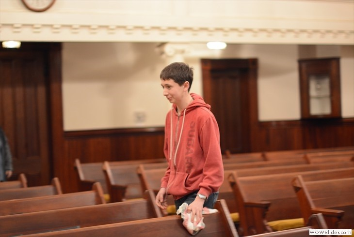 Youth Help with Church, pic by Jessica Geising