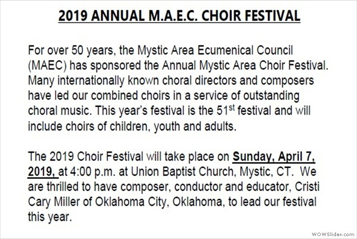 04072019 MAEC Choir Festival Union Baptist