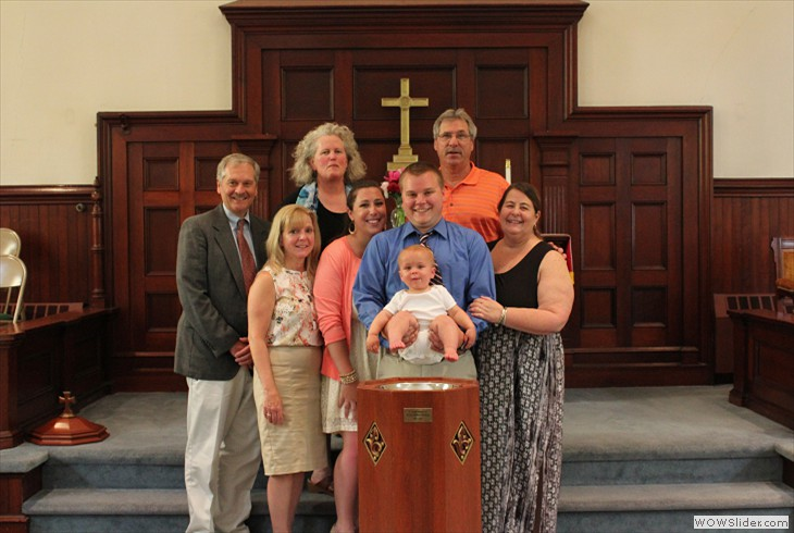 May 31, 2015 Cody Sawyer Baptism with Family