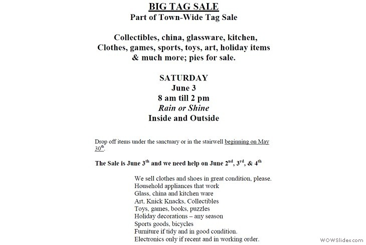 06032017 Town-Wide Tag Sale