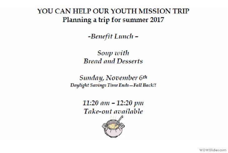 06NOV2016 Youth Mission Lunch