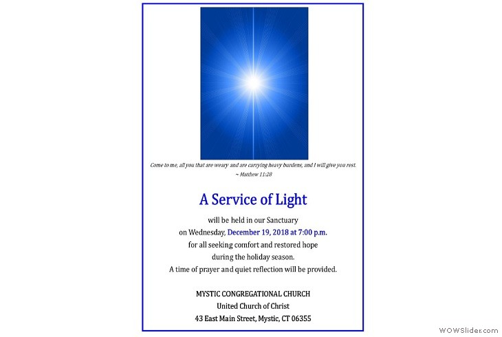 12192018 7pm Service of Light