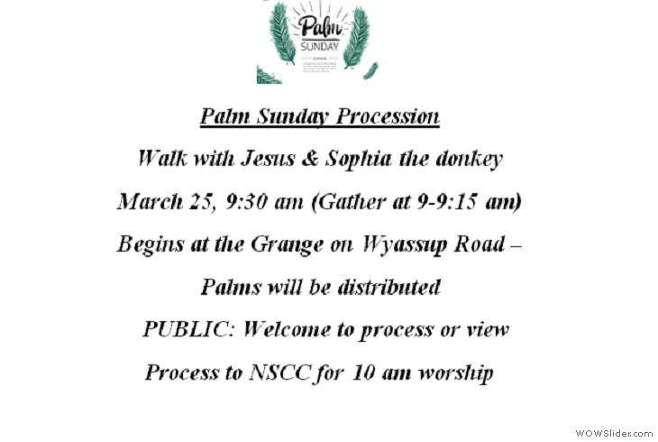 25MAR2018 Palm Sunday Procession with Donkey