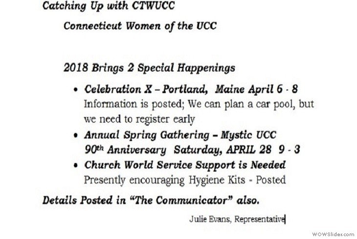 28APR2018 CTWUCC and MAEC