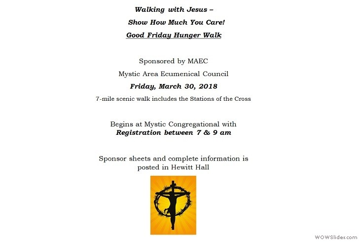 30MAR2018 Good Friday Hunger Walk Mystic Congregational