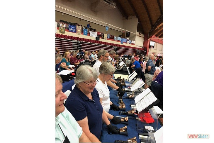 2019 Area 1  Handbell Festival Conference at University of  Hartford.  Here's a few of our ringers!