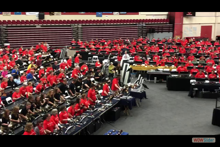 2019 Area 1  Handbell Festival Conference.  Here is a video clip by Mike, our director, during Mass Ring Practice.